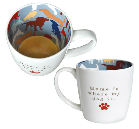 HOME IS WHERE MY DOG IS Inside Out Mug Type 137