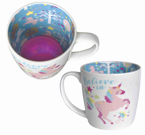 BELIEVE IN UNICORNS Inside Out Mug Type 145