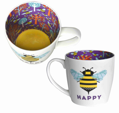 BE HAPPY Inside Out Mug Type 146