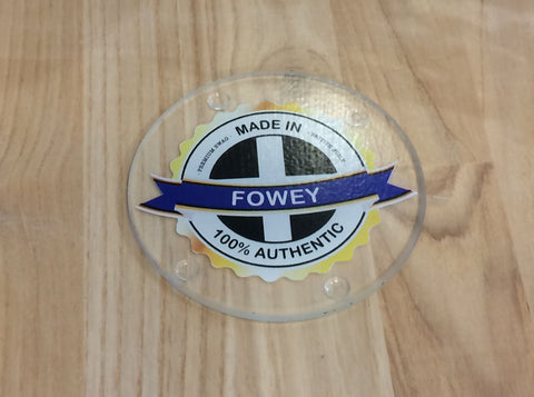 Made in Fowey Glass Coaster