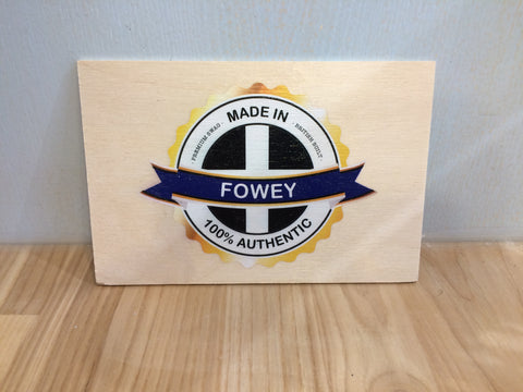 Made in Fowey Wooden Postcard