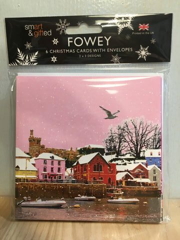 Fowey Christmas Cards - pack of 6