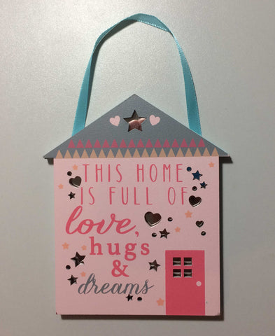HOME HUGS & DREAMS Mirror Plaque Type 922