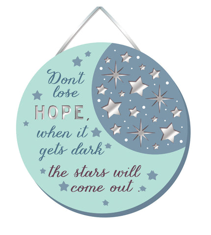 DON'T LOSE HOPE Mirror Plaque Type 925