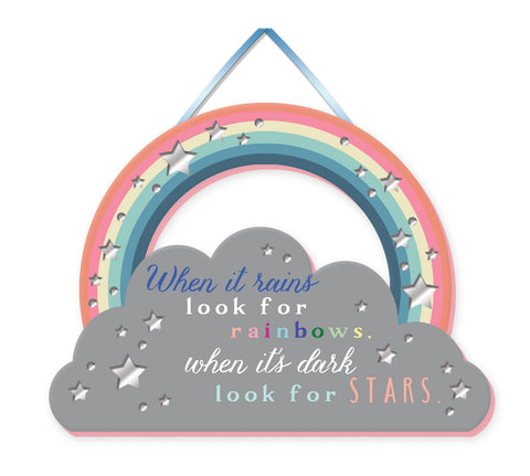 LOOK FOR RAINBOWS Mirror Plaque Type 927