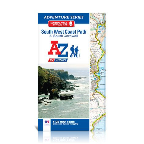 South West Coast Path South Cornwall A-Z Adventure Atlas