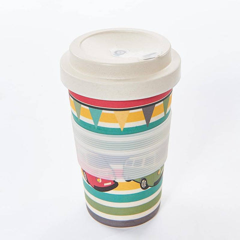 Campervan Design Bamboo Coffee Cup