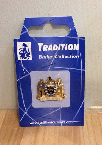 Cornwall Crest Pin Badge