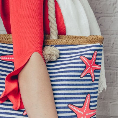 Dotty Starfish Rope Bag