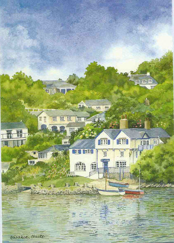 Ferryside, Fowey - Cornish Landscape - limited edition signed print