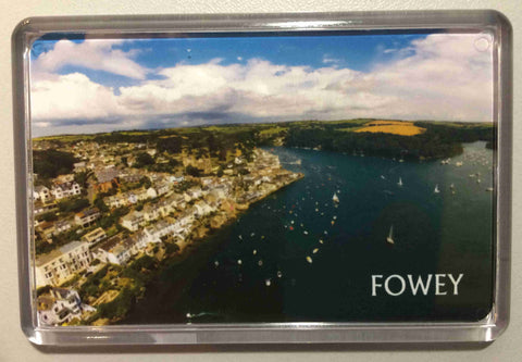 Fowey Aerial View Acrylic Fridge Magnet version 1