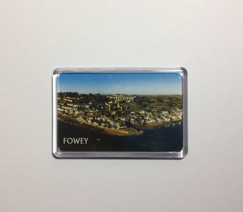 Fowey Aerial View Acrylic Fridge Magnet version 2