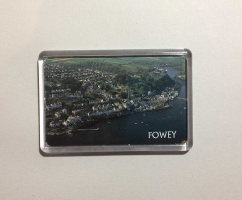 Fowey Aerial View Acrylic Fridge Magnet version 3
