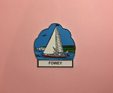 Sailing Boats in Fowey Souvenir Fridge Magnet