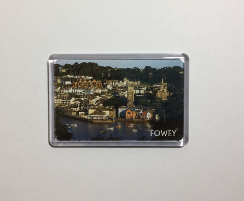 View of Fowey from across the river Acrylic Fridge Magnet