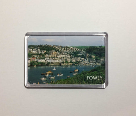 View of Fowey from Polruan Acrylic Fridge Magnet