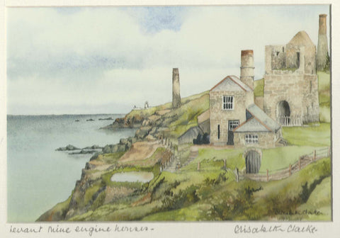 Levant Mine Engine Houses - Cornish Landscape - signed print