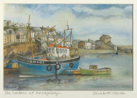 Mevagissey Harbour - Cornish Landscape - print