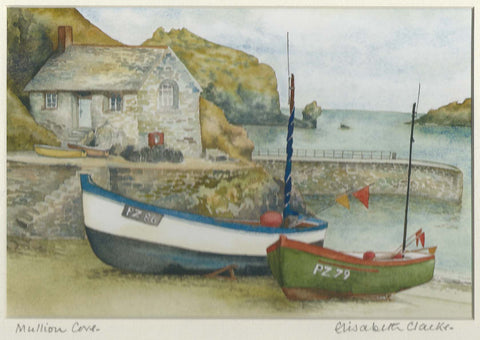 Mullion Cove - Cornish Landscape - signed print