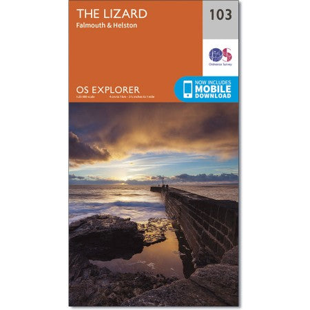 Map of The Lizard - OS Explorer Map 103 (Falmouth & Helston)