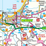 Cornwall OS Tour map: 1:100,000 tourist road map
