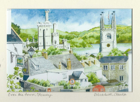 View over Fowey - Cornish Landscape - signed print