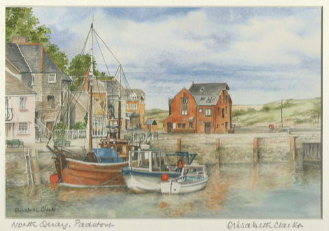 The North Quay at Padstow - Cornish Landscape - signed print