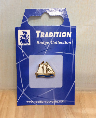 Schooner Pin Badge
