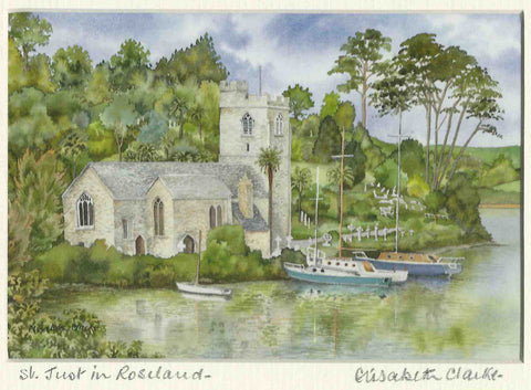 St Just in Roseland - Cornish Landscape - signed print