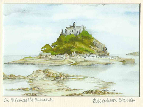 St Micheal's Mount - Cornish Landscape - signed print