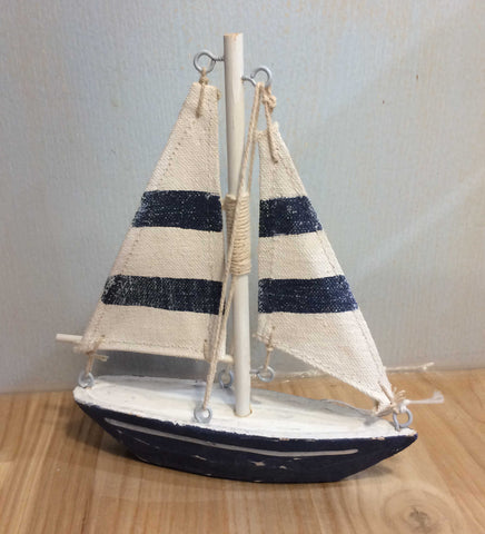Blue & White Wooden Yacht - ZY52
