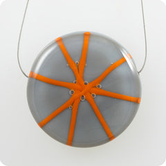 Starburst - grey, electric orange
