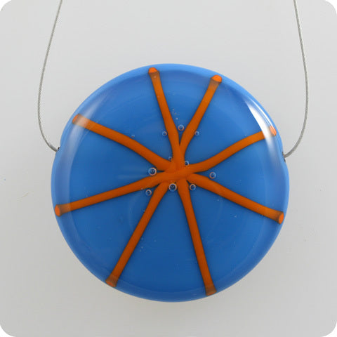 Starburst - electric blue, electric orange