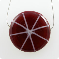 Starburst - deep red, white