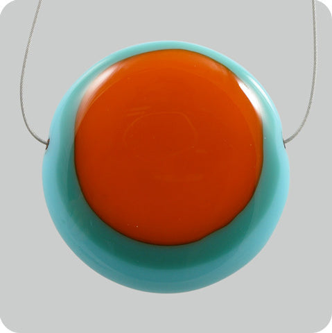 Triple Yolk - light blue, aquamarine, orange