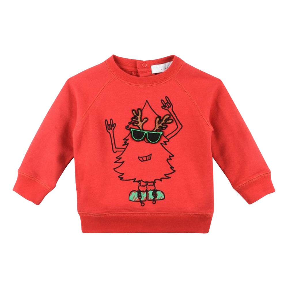 Stella McCartney Kids Billy Organic Cotton Sweatshirt - Christmas Collection - Red