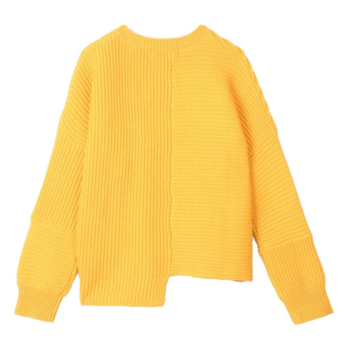 Stella McCartney Kids Megan Organic Cotton and Wool Jumper Mustard