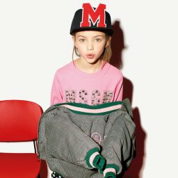 MSGM Girls Pink Cotton Sweatshirt