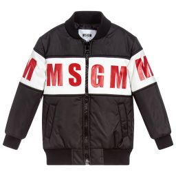 MSGM Unisex Black Padded Jacket