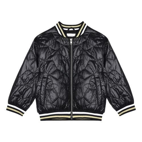 Stella McCartney Kids Serena Quilted Bomber Jacket Black