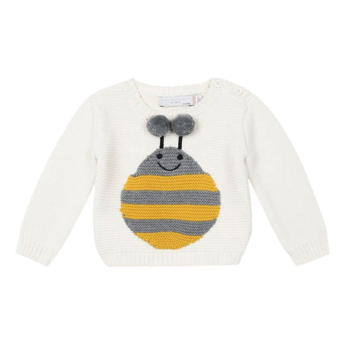 Stella McCartney Kids Thumper Organic Cotton Jumper Ecru