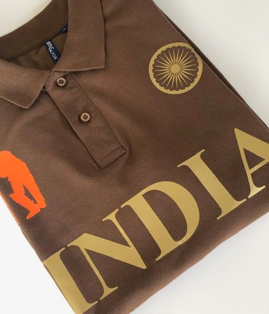 India Iconic Brown Polo Shirt