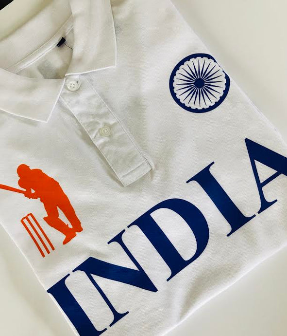 India Iconic White Polo Shirt