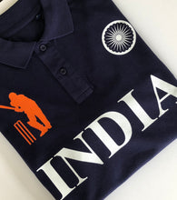 Load image into Gallery viewer, India Iconic Navy Polo Shirt Limited Edition