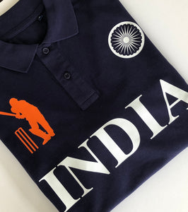 India Iconic Navy Polo Shirt