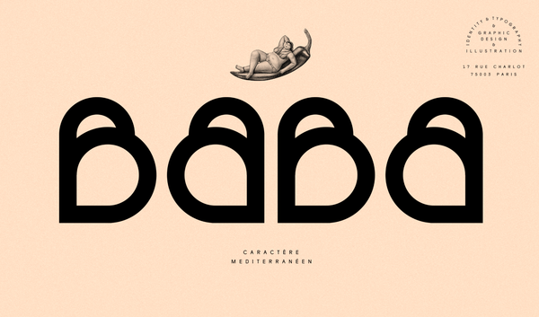 Baba brand identity design and typography | By Violaine & Jeremy
