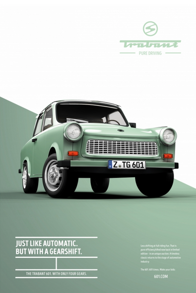 Trabant 601 - Pure driving Posters | design by Institute of Design, Düsseldorf, Germany
