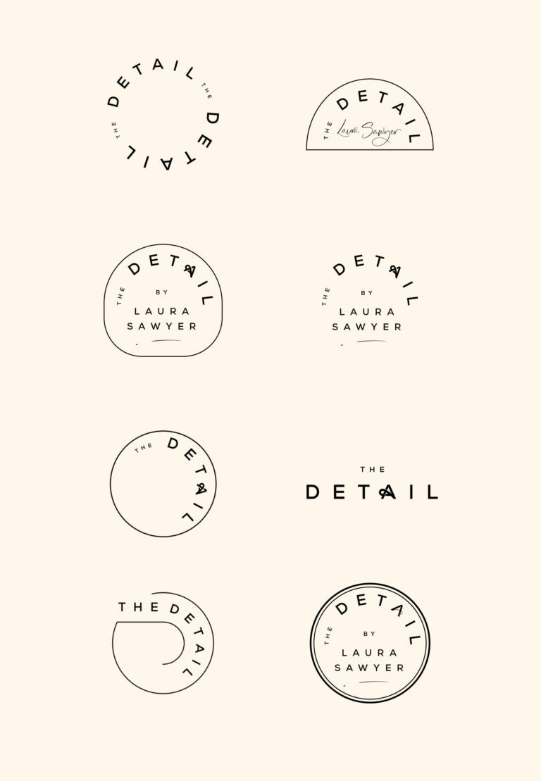 Minimal brand design | By Cocorrina