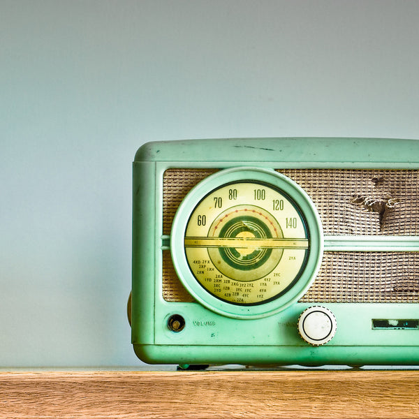 Two vintage radios found on opposite sides of the world
