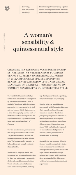 Chandra typography and design